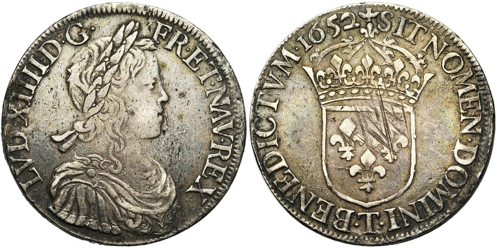 691. FRANCE, Louis XIV (1643-1715). pr. TB (a. VF) €200