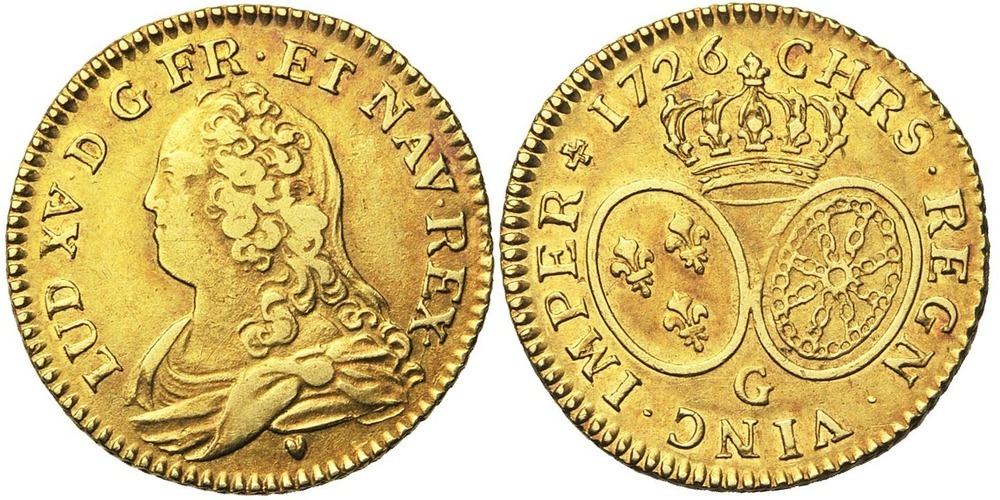 820. FRANCE, Louis XV (1715-1774). TB (VF) €600