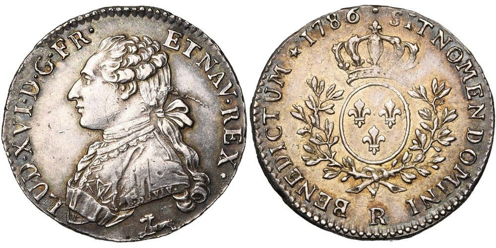 1487. FRANCE, Louis XVI (1774-1793). pr. SUP (a. EF) €100