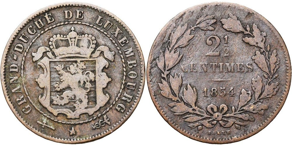 1317. LUXEMBOURG, Guillaume III (1849-1890). B (F) € 3