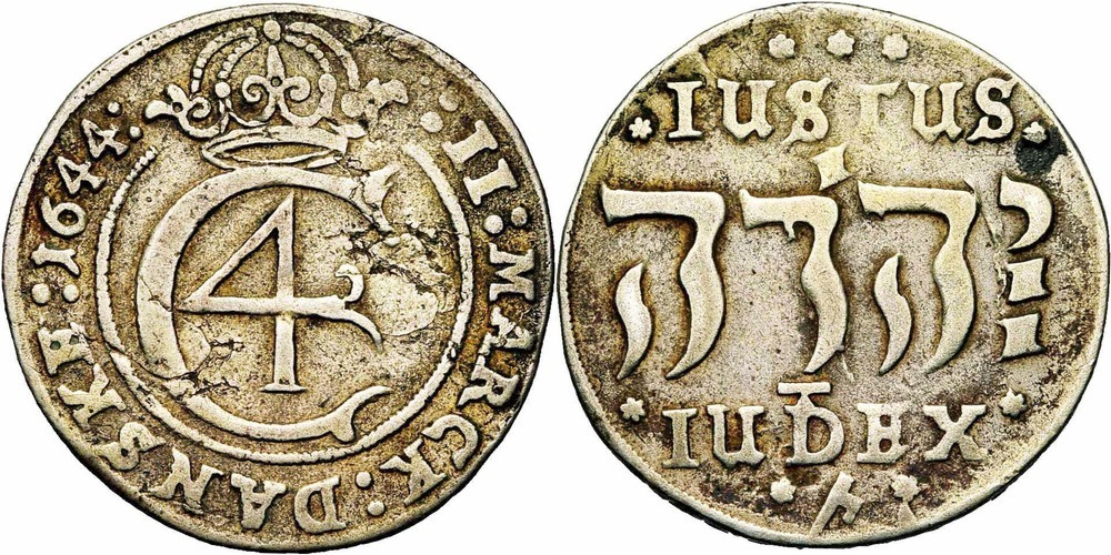 677. DANEMARK, Christian IV (1588-1648). TB (VF) € 800