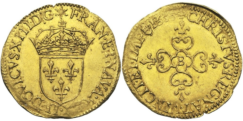 759. FRANCE, Louis XIII (1610-1643). pr. SUP (a. EF) € 1200