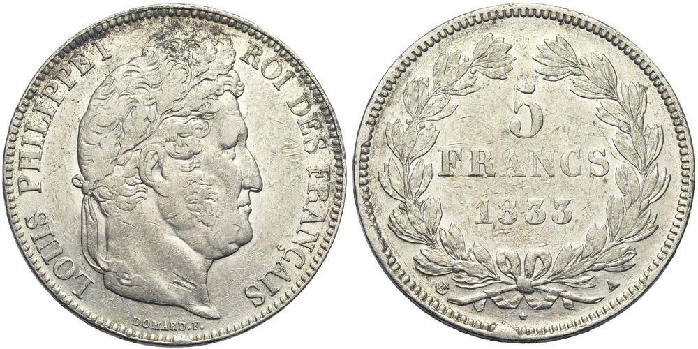 1985. FRANCE, Louis-Philippe (1830-1848). TB à SUP (VF - EF) € 50