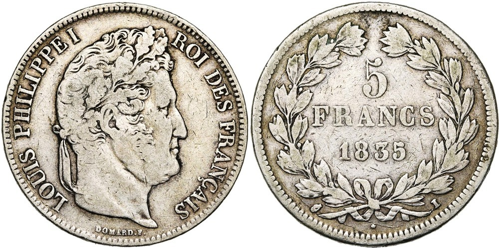 1987. FRANCE, Louis-Philippe (1830-1848). B à TB (F - VF) € 35