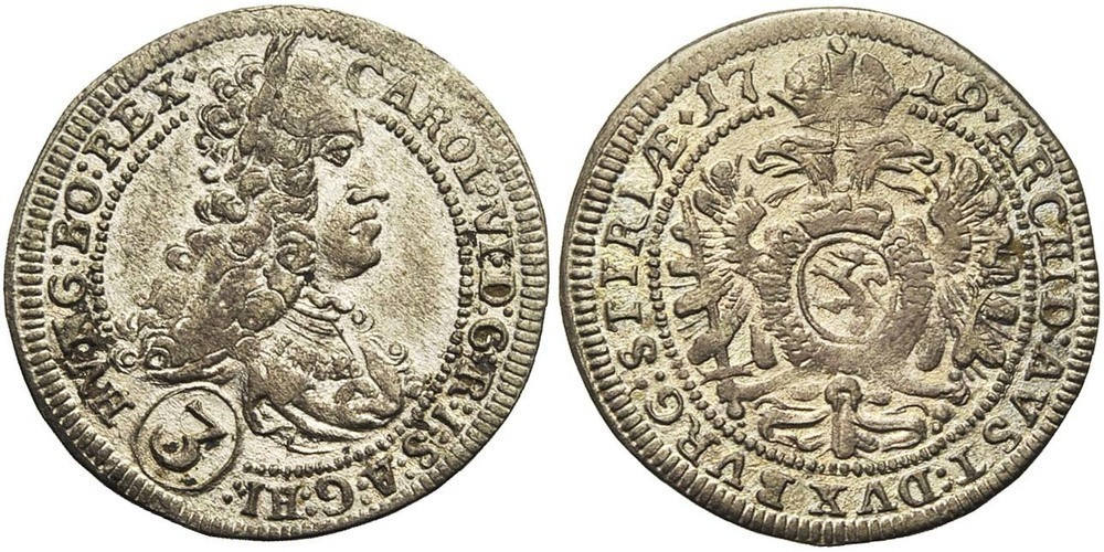 1030. SAINT EMPIRE, Charles VI (1711-1740). TB (VF) €20