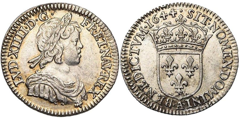 1222. FRANCE, Louis XIV (1643-1715). TB à SUP (VF - EF) €100