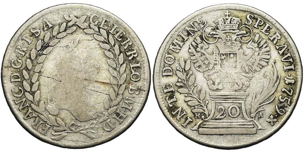 911. SAINT EMPIRE, François Ier (1745-1765). B (F) € 8